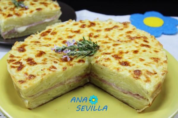 Milhojas de patata relleno olla GM Ana Sevilla