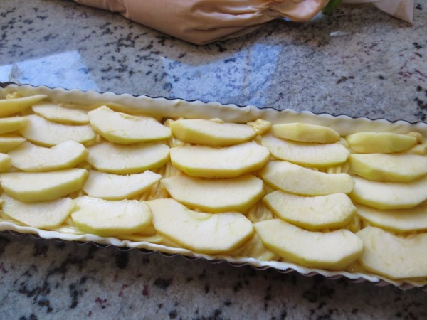 Tarta de crema y manzana Thermomix