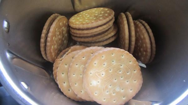 Bizcocho de galletas rellenas Thermomix
