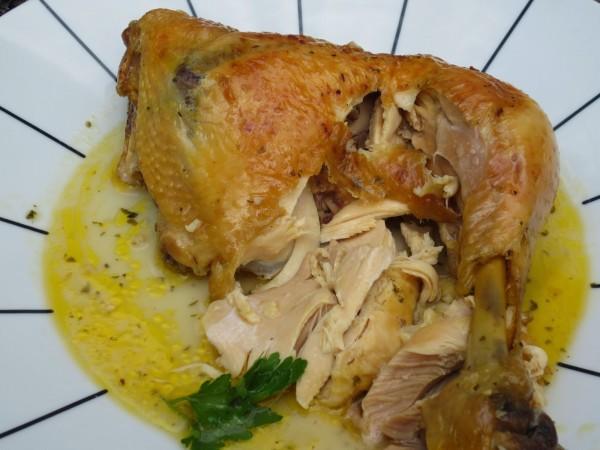 Pollo asado en su jugo Thermomix