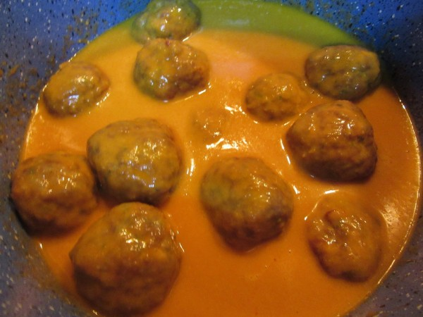 Albóndigas en salsa española olla GM