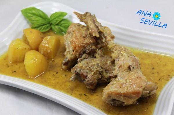 Conejo al ajillo cocina tradicional Ana Sevilla