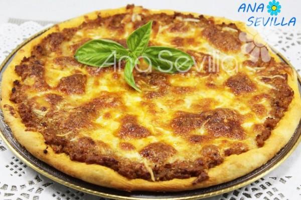 Pizza a la barbacoa