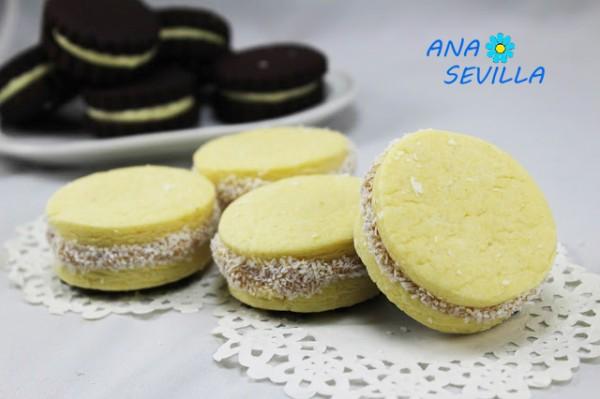 Alfajores de dulce de leche argentinos cocina tradicional Ana Sevilla