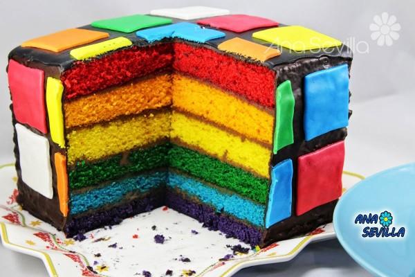 Tarta arco iris Thermomix