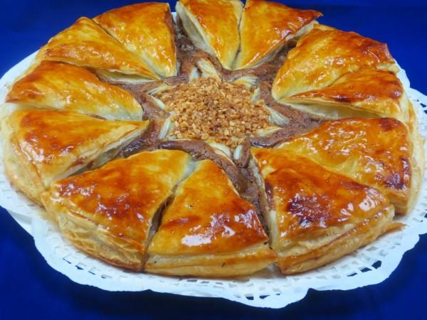 Estrella de hojaldre dos nutellas Ana Sevilla cocina tradicional