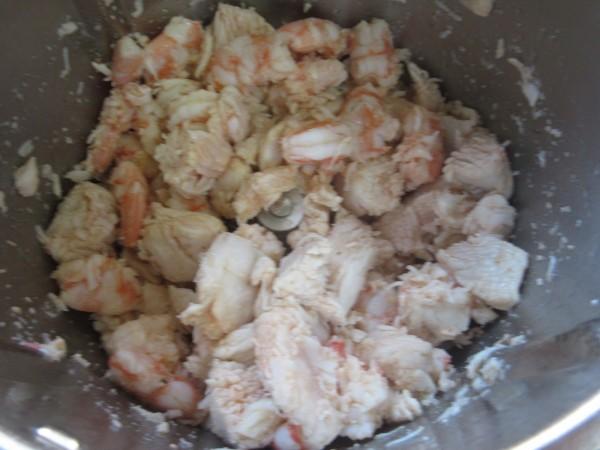 Volovanes de pollo y langostinos Thermomix