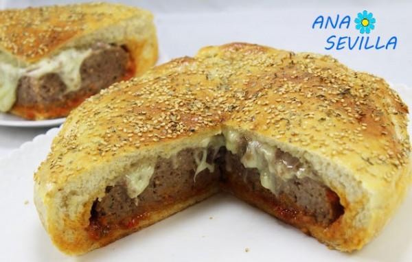 Pan relleno de hamburguesa olla GM cerca