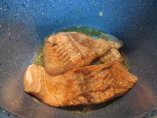 Cazuela de salmón y verdura olla GM