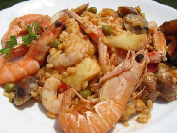 Paella dominguera Ana Sevilla paella de marisco