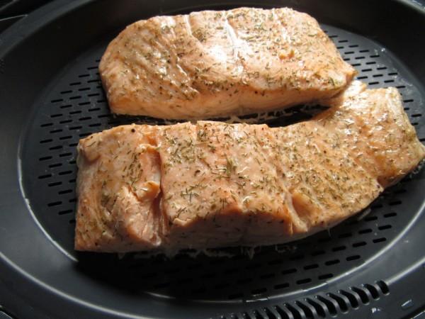 Cazuela de salmón y verdura Thermomix