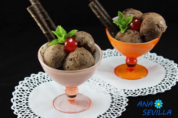 Helado de chocolate express Ana Sevilla cocina tradicional