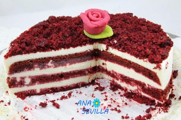Tarta o helado Red- velvet con Thermomix