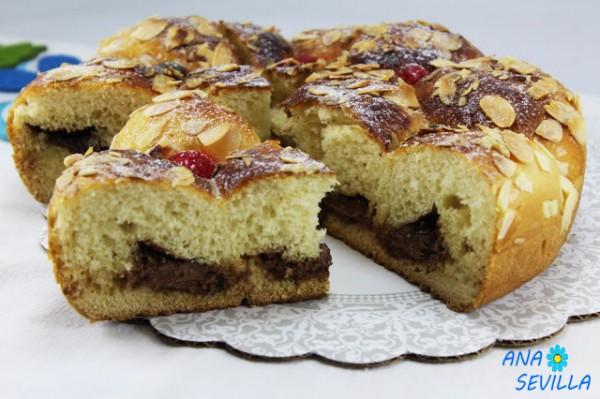Brioche portugués relleno de chocolate olla GM Ana Sevilla