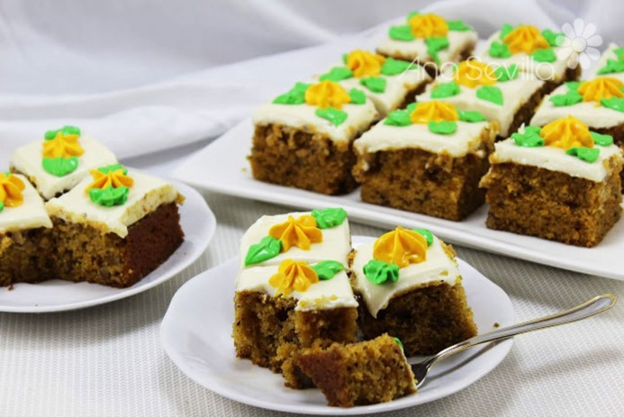 Borrachines carrot cake